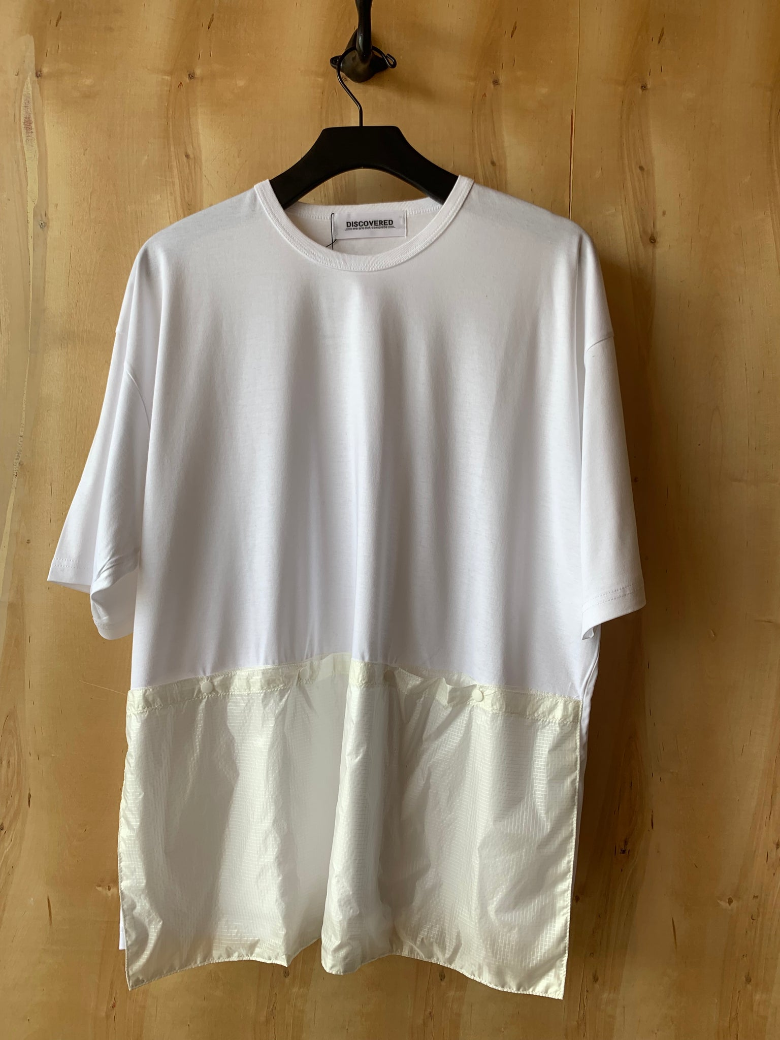 Nylon Kangaroo Pocket Tee White