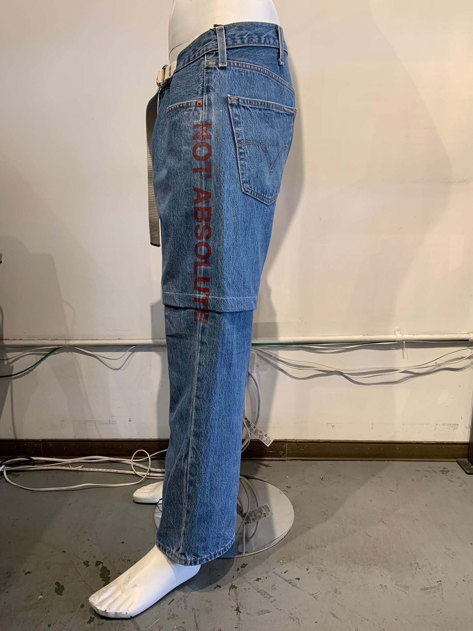 Remake Levi's adjustable jeans