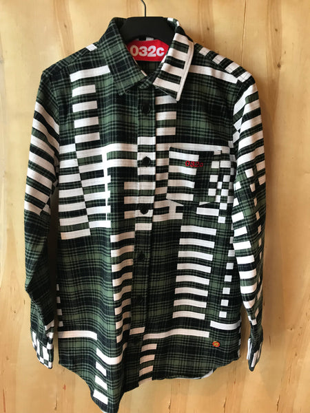 WWB Flannel Shirt Black/Washed Hunter Green/Milk
