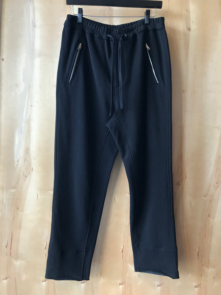Relaxed cropped sweat pants