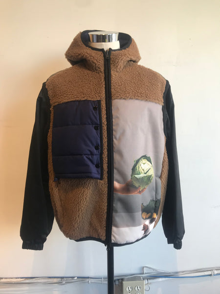Reversible Hooded Sherpa Jacket