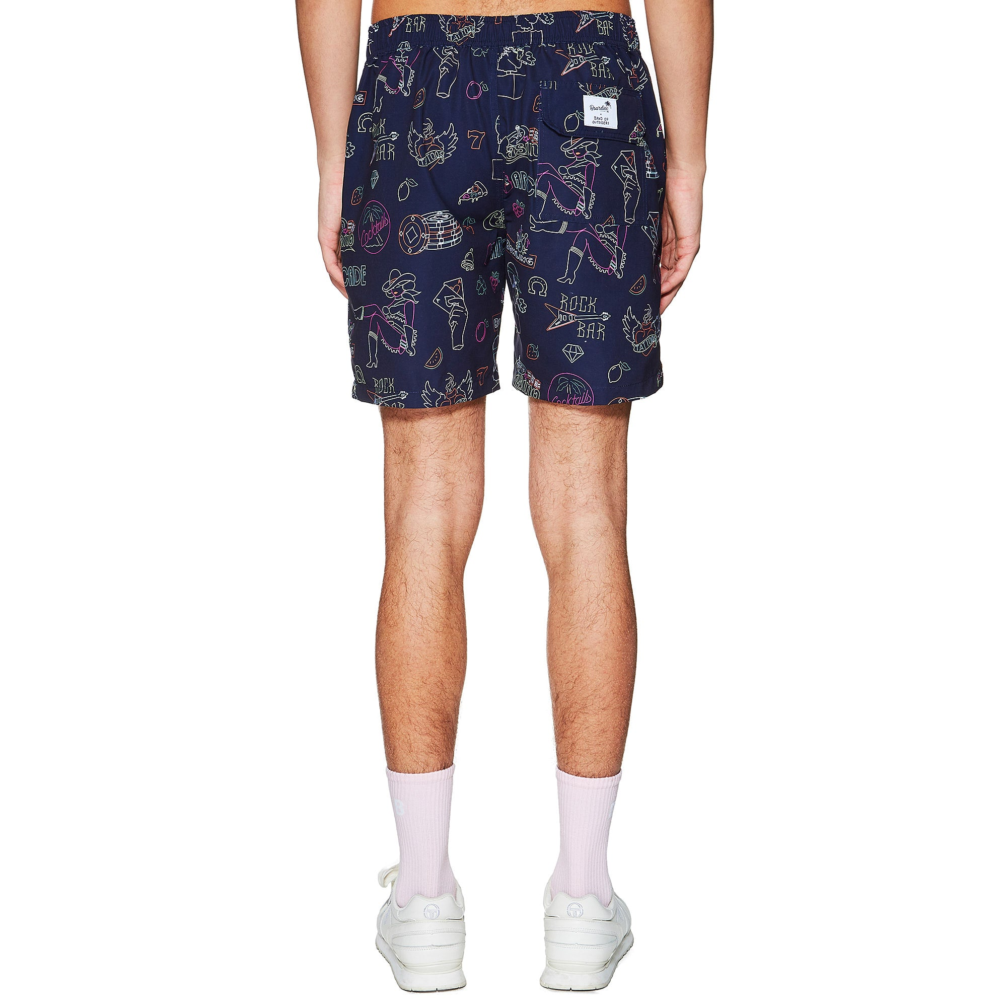 BOARDIES® X BAND OF OUTSIDERS NEON SIGNS SWIMSHORT