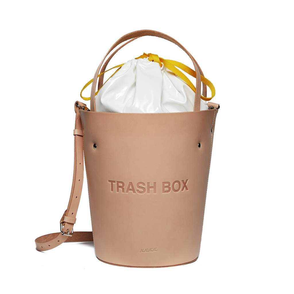 Not a Trash box Medium Leather(Natural)