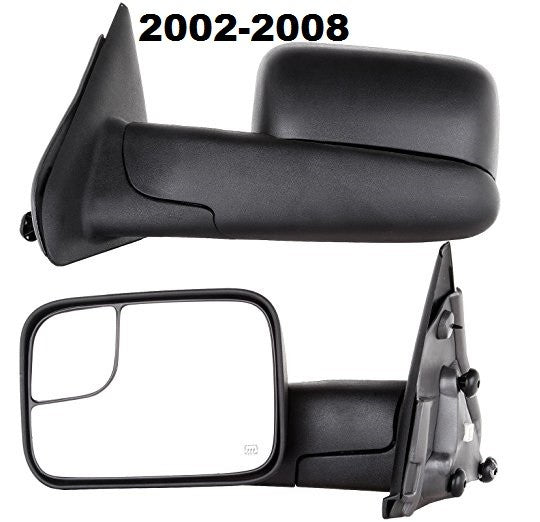 2002 - 2009 Dodge Ram 1500 2500 3500 Manual Towing Mirrors - Pair Platinum D0209P