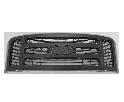 2008 - 2010 Ford Superduty Grill Black (F-250 F-350 F350)