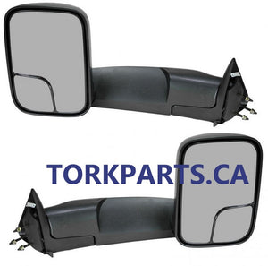 1998 - 2002 Dodge Ram Towing Mirrors with power, heat and backing plate - Pair  CH1320307PR