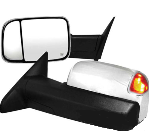 2009 - 2012 Dodge Ram Tow Mirror Chrome with signal