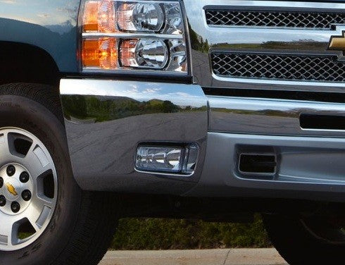 2012-2013 Chev Silverado 1500 chrome bumper end with fog holes '32135