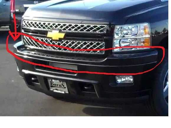 2012-2014 Chevrolet silverado 2500 3500 HD front upper bumper pad (Painted)