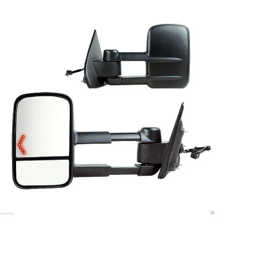 2014 - 2017 Sierra /  Silverado Tow Mirror with power, heat and turn signal GM1320458 / GM1321458