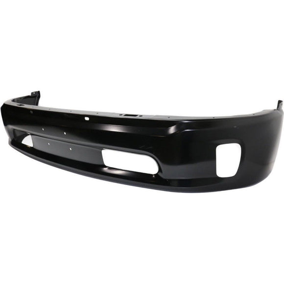 2013 - 2018 Dodge Ram 1500 Front Bumper Steel - Black with Fog Light Holes CH1002399
