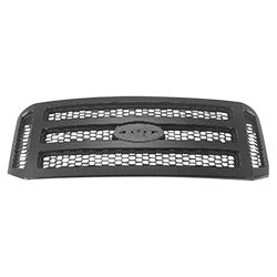 2005 - 2007 Ford F250 F350 Black Textured Grille