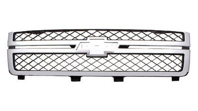 2011 - 2014 Chevrolet Silverado 2500 3500 Chrome Grill GM1200639