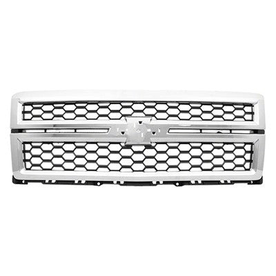 2014 - 2015 Chevrolet Silverado Chrome/Black Grill   GM1200696