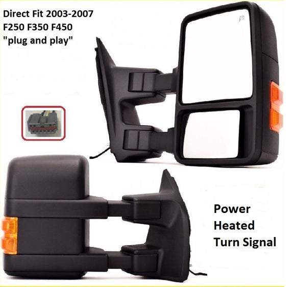 2003 - 2007 Ford F250 F350 F450 Upgrade Towing Mirrors