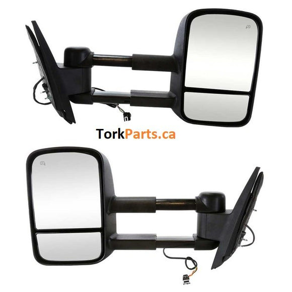 2007 - 2013 GMC Sierra Chev Silverado Towing Mirrors - power and heat (Pair) GMP0713