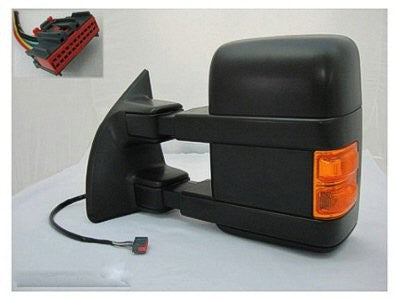 Ford F250 F350 F450 Towing Mirrors 2010-2016 Black Textured with Power Folding with Mem