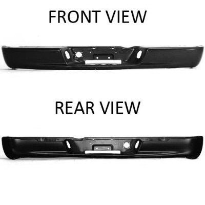 2002 - 2009 Dodge Ram Rear Step Bumper Facebar CH1102352 (paintable)