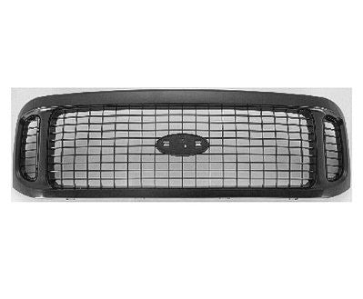 2001 - 2004 Ford Excursion Black Grille  FO1200449