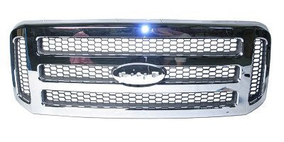 2005 - 2007 Ford Super Duty F250 F350 F450 Chrome Grill XLT (3 Bar)  FO1200456