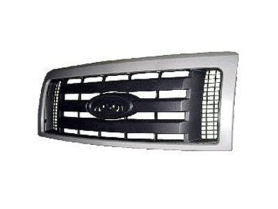 2009 - 2012 Ford F150 Chrome /  Black Grille FO1200512