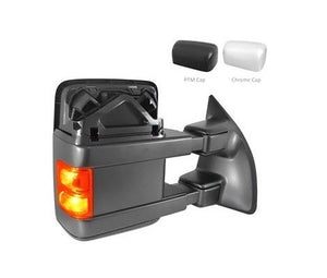 Ford F250 F350 F450 Towing Mirrors 2010-2016 Chrome/PTM top cap with Power Folding FO1321493 / FO1320491