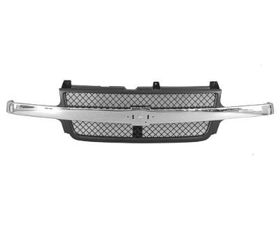 1999-2002 Chevrolet Silverado Grill HD (chrome with Black honeycomb) GM1200523