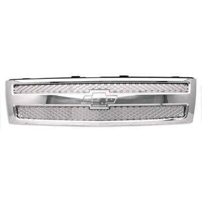 2007 - 2013 Chevrolet Silverado 1500 Chrome Grille with Chrome Mesh - GM1200655