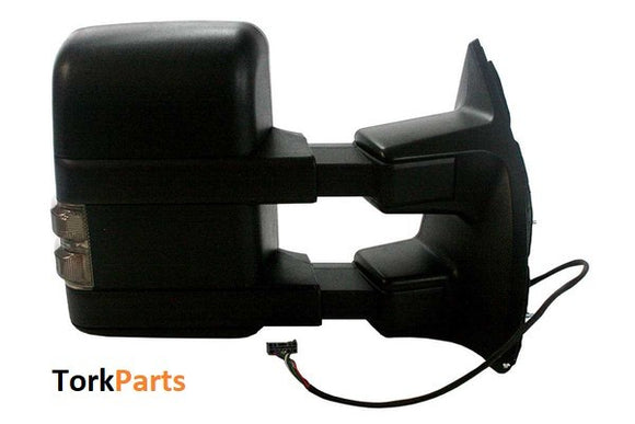 2003 - 2007 Ford F250 F350 F450 Excursion Towing Mirrors - smoked turn signal (New Style)