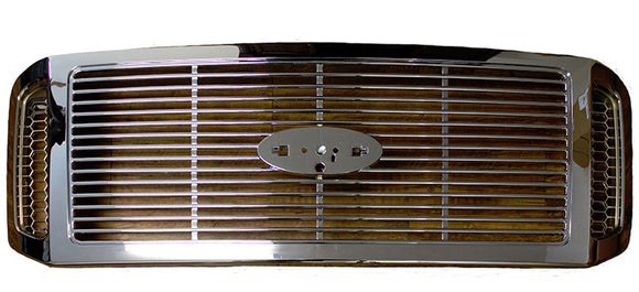 2005 2006 2007 F250 F350 Chrome Billet Style Grill (FO1200459)