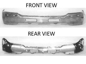 1999 - 2002 GMC Sierra/ 00-06 Yukon Front Chrome bumper with Air holes GM GM1002372
