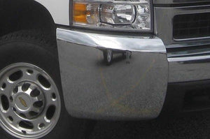 2007-2010 Chevrolet Silverado 2500/3500 Chrome bumper ends without fog '100286