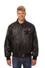 HOUSTON ASTROS FULL LEATHER JACKET - BLACK/BLACK