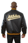 OAKLAND ATHLETICS FULL LEATHER JACKET - BLACK