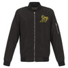 OAKLAND ATHLETICS JH DESIGN LIGHTWEIGHT NYLON BOMBER JACKET – BLACK