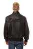 ATLANTA BRAVES FULL LEATHER JACKET - BLACK/BLACK
