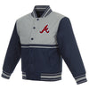 Atlanta Braves Kids Poly-Twill Jacket