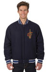 Cleveland Cavaliers Reversible All-Wool Jacket (Front and Back Logos)