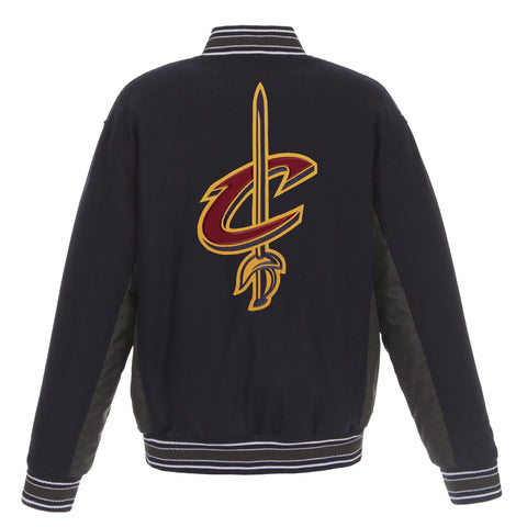 Cleveland Cavaliers Reversible Wool Jacket (Front and Back Logos)