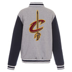 Cleveland Cavaliers Reversible Fleece Jacket (Front and Back Logos)