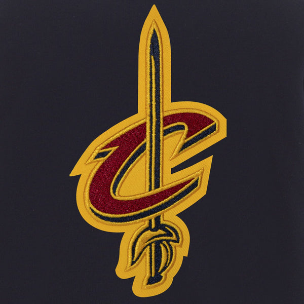 Cleveland Cavaliers Reversible Fleece and Faux Leather Jacket (Front and Back Logos)