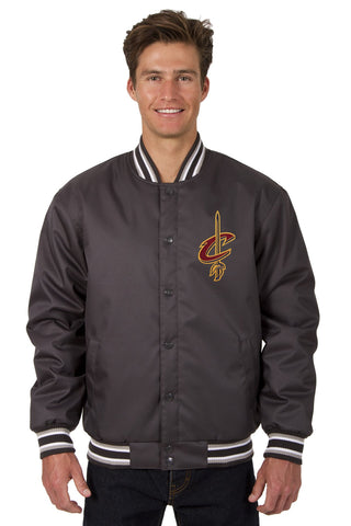 Cleveland Cavaliers Poly-twill Jacket (Front and Back Logo)