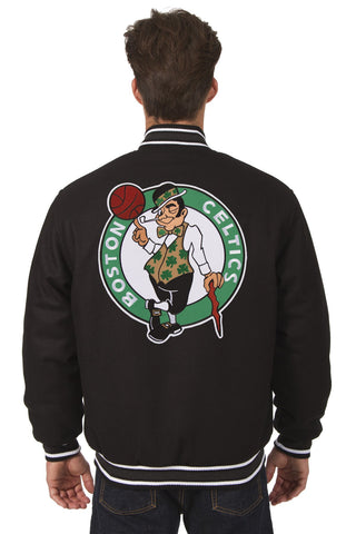 Boston Celtics Reversible All-Wool Jacket (Front and Back Logos)
