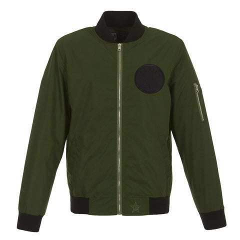 Boston Celtics Military Green Bomber