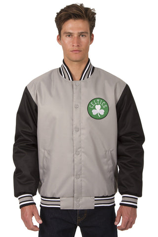 Boston Celtics Poly-Twill Jacket (Front and Back Logo)