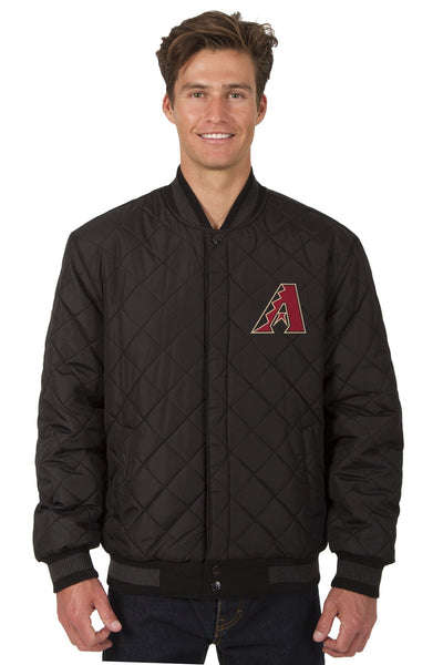 Arizona Diamondbacks Reversible Wool and Leather Jacket