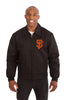 SAN FRANCISCO GIANTS COTTON TWILL WORKWEAR JACKET - BLACK