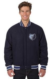 Memphis Grizzlies Reversible All-Wool Jacket (Front and Back Logos)