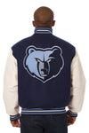 Memphis Grizzlies Embroidered Wool and Leather Jacket