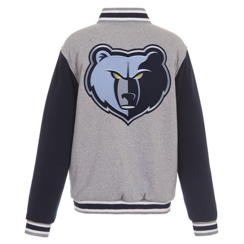 Memphis Grizzlies Reversible Fleece Jacket (Front and Back Logos)